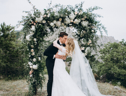 Wedding in Italy and Floral arch